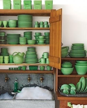 La vaisselle en jadéite