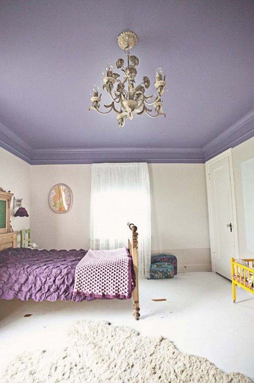 De la couleur sur les plafonds de la ruelle au salon for Inspiration couleur chambre